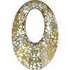 20mm Gold Patina Crystal